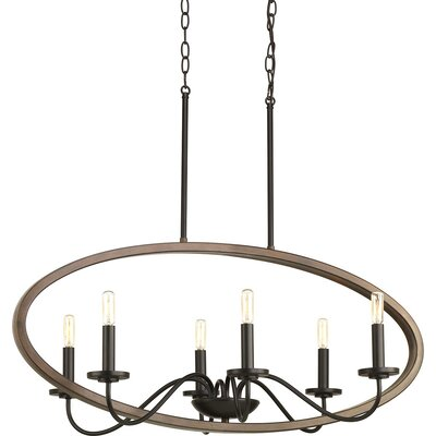 Maez 6-Light Candle-Style Chandelier Finish: Antique Bronze