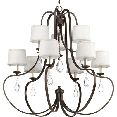 Brigida 9-Light Candle-Style Chandelier Finish: Antique Bronze