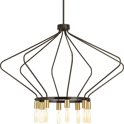 Geib 8-Light Geometric Pendant Finish: Antique Bronze