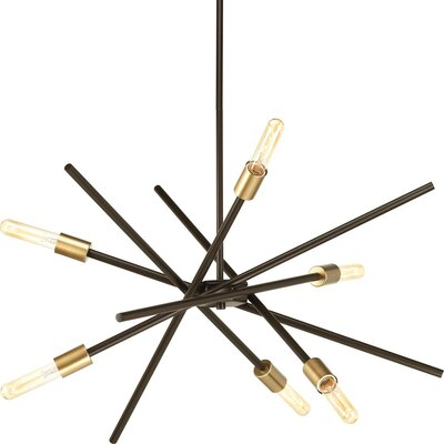 Cedillo 6-Light Sputnik Chandelier Finish: Antique Bronze
