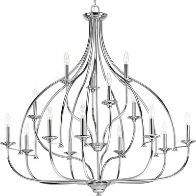 Harrod 15-Light Candle-Style Chandelier Finish: Polished Chrome