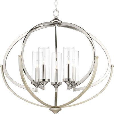 Delancey 5-Light Candle-Style Chandelier Finish: Polished Nickel