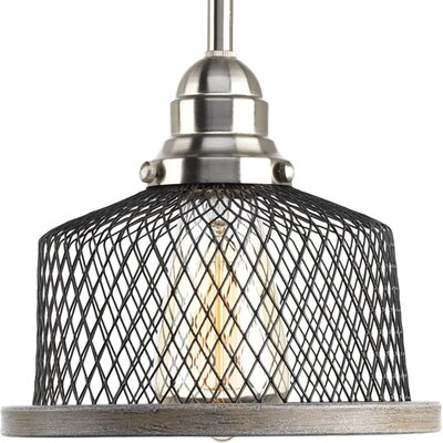 Murillo 1-Light Drum Pendant Color: Brushed Nickel