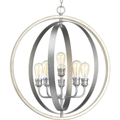 Mccurley 6-Light Globe Pendant Finish: Galvanized