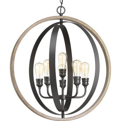 Mccurley 6-Light Globe Pendant Finish: Graphite