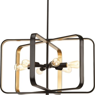 Geer 6-Light Foyer Pendant Finish: Antique Bronze