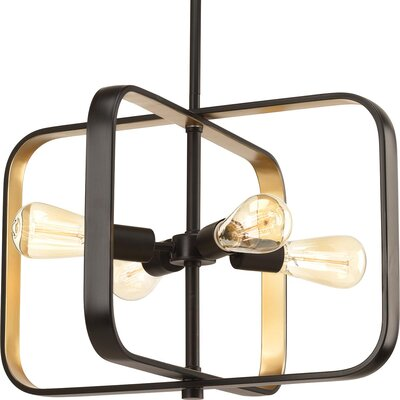 Geer 4-Light Geometric Pendant Finish: Antique Bronze