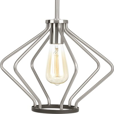 Geib 1-Light Foyer Pendant Finish: Brushed Nickel