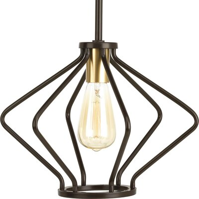 Geib 1-Light Foyer Pendant Finish: Antique Bronze