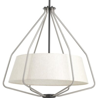 Geib 3-Light Foyer Pendant Finish: Brushed Nickel