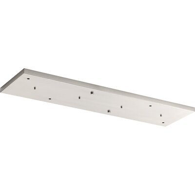 6-Light Canopy Accessory Ceiling Medallion Finish: Brushed Nickel