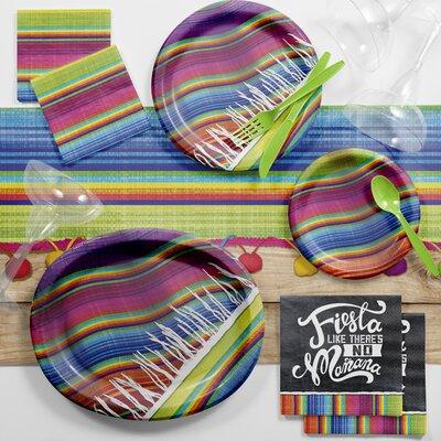 Serape Fiesta Deluxe Tableware Set DTC2568E2B