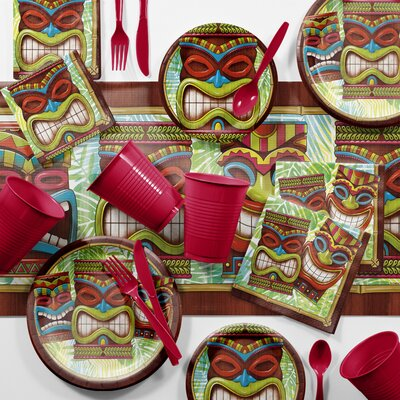 Bulk Tiki Time Luau Tableware Set DTC2897E2C
