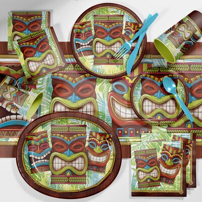 Tiki Time Deluxe Luau Tableware Set DTC2897E2B