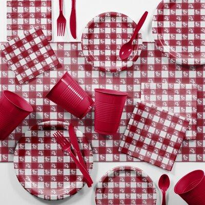 Bulk Gingham Picnic Tableware Set DTCRGING2C