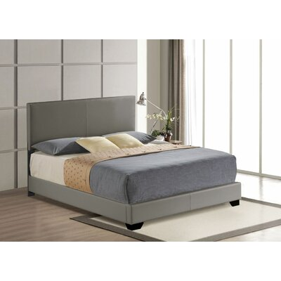 Hawks Upholstered Panel Bed Size: King, Color: Gray