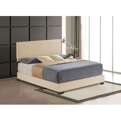 Hawks Upholstered Panel Bed Size: Queen, Color: Beige