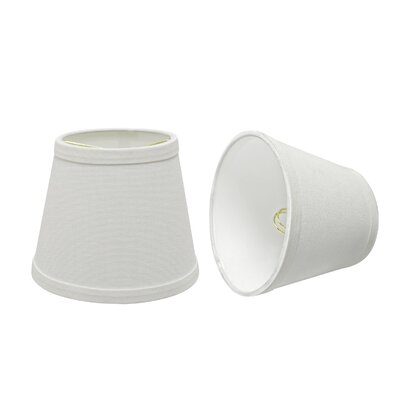 Transitional 6 Fabric Empire Lamp Shade Color: White