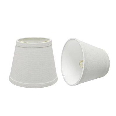 Transitional 6 Fabric Empire Lamp Shade Finish: White