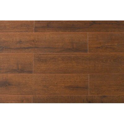 Jeramiah 7 x 48 x 12mm Oak Laminate Flooring in Teak Wood