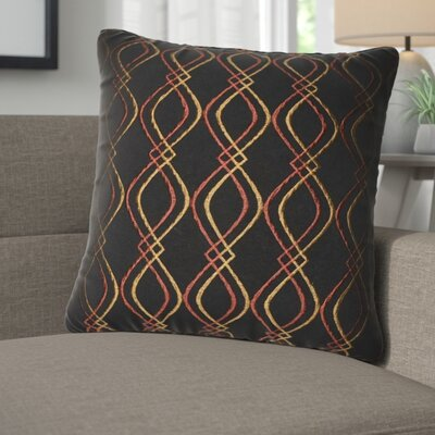 Picasso Decorative Cotton Throw Pillow Color: Black, Rust and Yellow