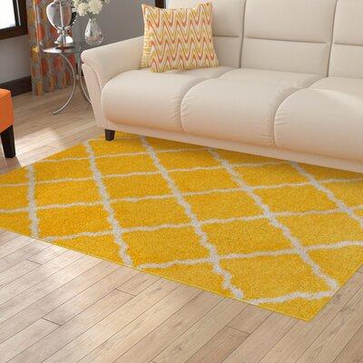 Kavanagh High-Pile Posh Shaggy Canary Area Rug Rug Size: 79 x 10