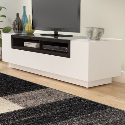 Chapman 65 TV Stand Color: White / Dark Oak
