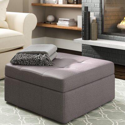 Baronets Storage Ottoman Upholstery: Gray