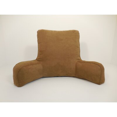 Galaviz 100% Suede Bed Rest Pillow Color: Dark Tan