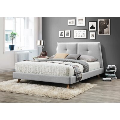 Gaillard Queen Upholstered Platform Bed Color: Light Gray