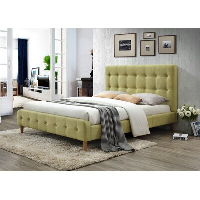 Gainey Queen Upholstered Platform Bed Color: Wheatgrass
