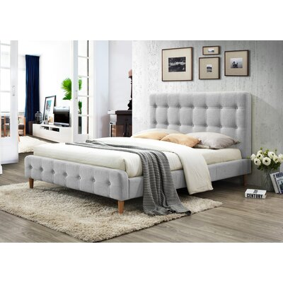 Gainey Queen Upholstered Platform Bed Color: Light Gray