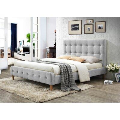 Gainey Queen Upholstered Platform Bed Color: Light Gray