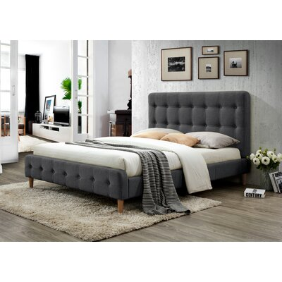 Gainey Queen Upholstered Platform Bed Color: Charcoal