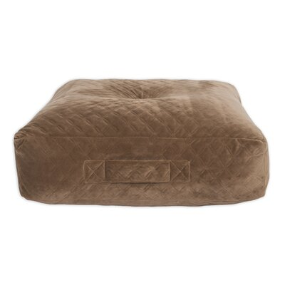 Galaz Velvet Floor Pillow Color: Burgundy
