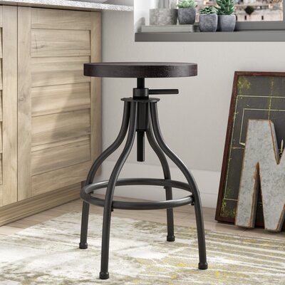 Rio Dell Adjustable Height Swivel Bar Stool