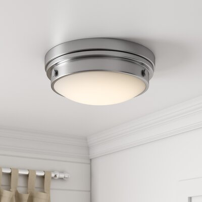 Anthony 2-Light Flush Mount Finish: Brushed Nickel