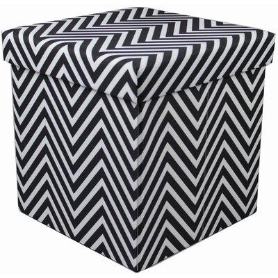 Mccann Storage Ottoman (Set of 12) Upholstery : Black