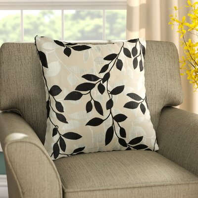 Franciscan Throw Pillow Size: 22 H x 22 W x 4 D, Color: Black / Beige, Filler: Down