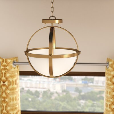 Haworth 2-Light Globe Pendant Finish: Satin Bronze