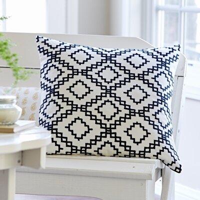 Audrey Embroidered Porch Linen Throw Pillow