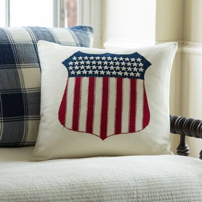 Liberty Shield Cotton Throw Pillow