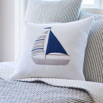 Sailboat Porch Linen Throw Pillow