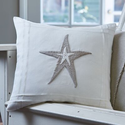 Starfish Porch Linen Throw Pillow