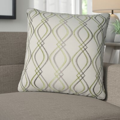 Picasso Decorative Cotton Throw Pillow Color: Cream, Taupe and Green