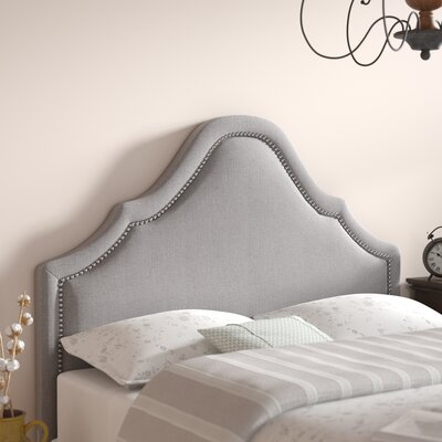 Carver Upholstered Panel Headboard Size: Queen, Upholstery: Gray