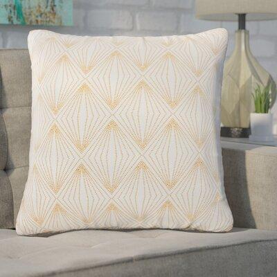 Broward Faux Silk Throw Pillow Color: Rose Gold