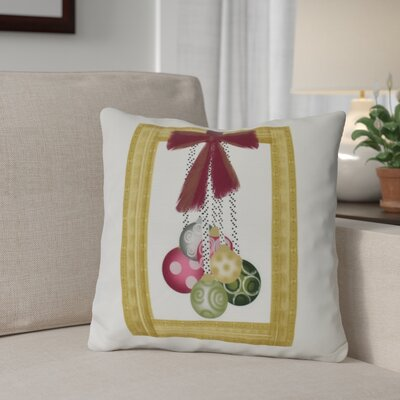 Frame It Up Outdoor Throw Pillow Size: 18 H x 18 W, Color: Yellow