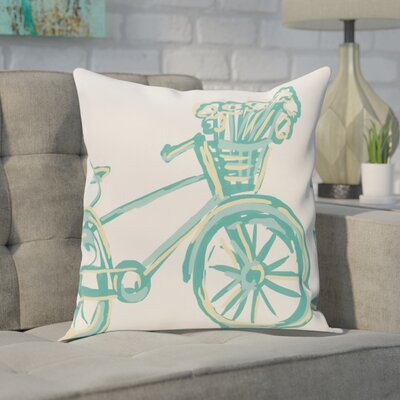 Chesser Outdoor Throw Pillow Color: Jade, Size: 20 H x 20 W x 1 D