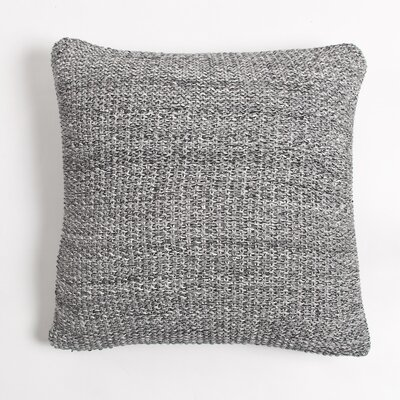 Edan Cotton Throw Pillow Color: Charcoal